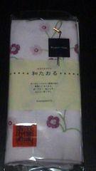 新品フェイスタオル(和たおる)薄いピンク×花柄