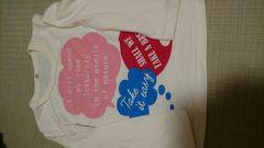 即決☆110�aクリーム色の長袖Tシャツ
