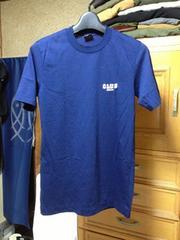 古着ヴィンテージ アディダス デサント レトロ刺繍ロゴ 半袖Tシャツ Sサイズ 紺ネイビー