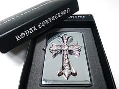オイルライター クロス 十字架 クロムハーツ風 シルバー (ZIPPO