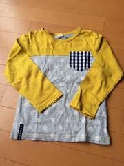キムラタン.ラキエーベ.長袖Tシャツ.黄色.グレー.ドット.美品