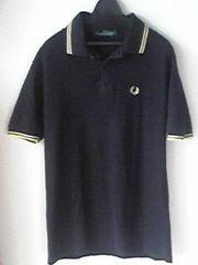FRED PERRY黒色×黄色ポロシャツフレッドペリー ブラック イギリス製