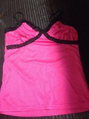 女性用 トップス ピンク色 キャミソール