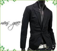 新品☆テーラードジャケット ノッチドラペル メンズ ブラック 3L