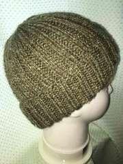 ニット帽子 手編み