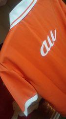 新品 auショップ ポロシャツ 白×オレンジ 《L》