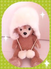 新品H&Mふわふわ帽子 110〜128サイズ