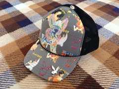美品プレイボーイPLAY BOY黒キャップ帽子B系