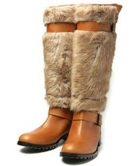Balcony and bed FUR WORK BOOTS ブーツ ベージュ 38 未使用