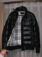 バーバリーブラックレーベル ホースマーク刺繍ダウンジャケット黒M