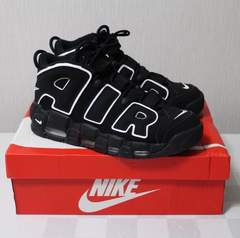 nike air more uptempo 黒 28cm