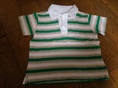 110 ストライプ ポロシャツ 美品