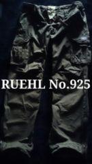 【RUEHL No.925】Vintage Washed ミリタリーカーゴパンツ L/Olive