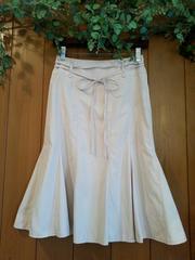 【即決】ひざ丈台形スカート☆フレアスカート★ベビーピンク♪ウエスト61(7号)Sサイズ