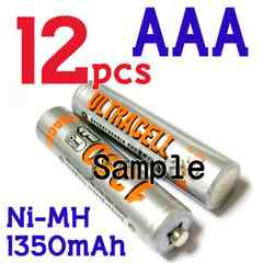 ULTRACELL Ni-MH 単四 1350mAh 1.2V 充電池 12本セット