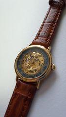 投げ売り本物キャンディーノ希少の両面スケルトン時計中古美品