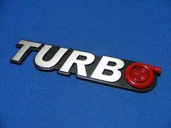 ● ユニーク TURBO タービンRED エンブレム アルミ製凹凸仕様!