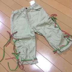 新品◆Bit'z◆綿麻レースアップ七分丈パンツ◆120ビッツ