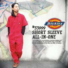 ad0121bsm■DICKIES Short Sleeve COVERALLS (33999) XL赤