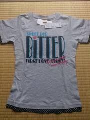 新品★タグ付き 半袖プリント Tシャツ グレー150