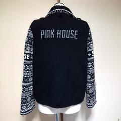ピンクハウスとっても可愛い切替レザージャケット