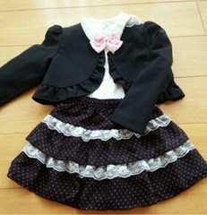 120 フォーマル女の子 入学 卒園 スーツ
