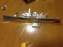 長さ86センチの、珍しい駆逐艦 アルミ製