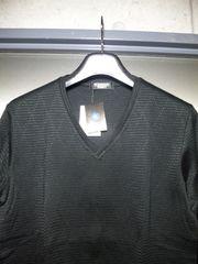 トルネードマート〓新品ダイヤ織柄長袖カットソー〓黒