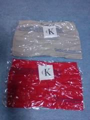 Calvin Klein〔赤×クリーム〕カルバンクライン
