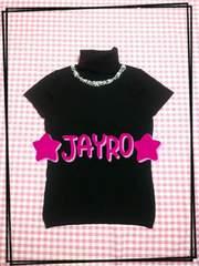 JAYRO♪ビジュー付♪ブラック♪タートル半袖ニット☆