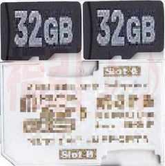 2枚のマイクロSDHC32GBをメモリースティック64Gへフォーマット済み普通郵便OK