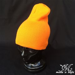 プレーン ニットキャップ2WAY ライトオレンジ ワッチキャップ312