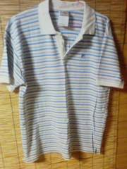 CARHARTT ポロシャツ ベージュ×水色 サイズL