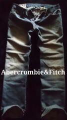 【Abercrombie&Fitch】Vintage Destroy ローライズジーンズ 36/M.Wash