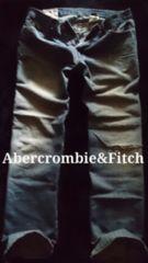 【Abercrombie&Fitch】Vintage Destroy ローライズジーンズ 36/M.Wash