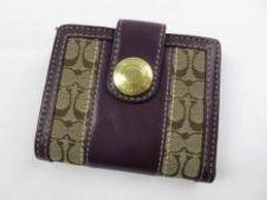 E10504■正規本物コーチ■ミニシグネチャー財布■美品