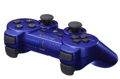 即決 PS3 純正ワイヤレスコントローラ DUALSHOCK3 メタリックブルー 送料無料