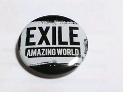 EXILE TOUR AMAZING WORLD 2015 缶バッジ 白黒