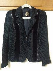 美品♪伊太利屋♪ミセス美麗ジャケット《スパンコール飾り》11号