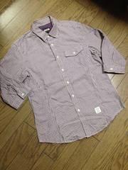 美品PPFM  7分丈チェックシャツ ペイトンプレイス