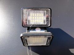 ベンツ キャンセラー内蔵LEDナンバー灯 X204GLK220GLK250GLK300