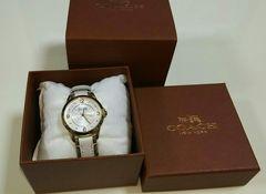 コーチ 5万円相当 ホワイト時計 正規品 使用あり