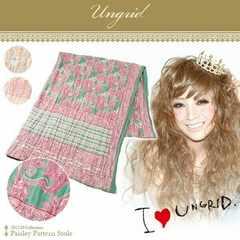 ■新品【Ungrid】アングリッド ペイズリーストール  マフラー  レディース ストール