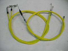 (2004C)CB250TCB400NホークCB400T30cmロングワイヤー黄色