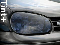 Tint+ 水洗→再利用OK VWゴルフ4 MK4 GTI ヘッドライト スモークフィルム