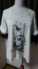 【axes femme】蝶々Tシャツ