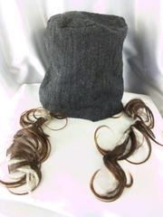 可愛い(^O^)髪付き帽子