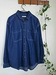 春先に〇GLOBAL WORK〇とろみ感あるダンガリーシャツ*・゜美品