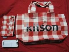 限定Kitson キットソン チェック柄ミニトートバック&ポーチ 未使用