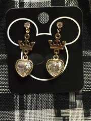 Disney プリンセス 王冠 ハートクリスタル ピアスゴールド DP#16